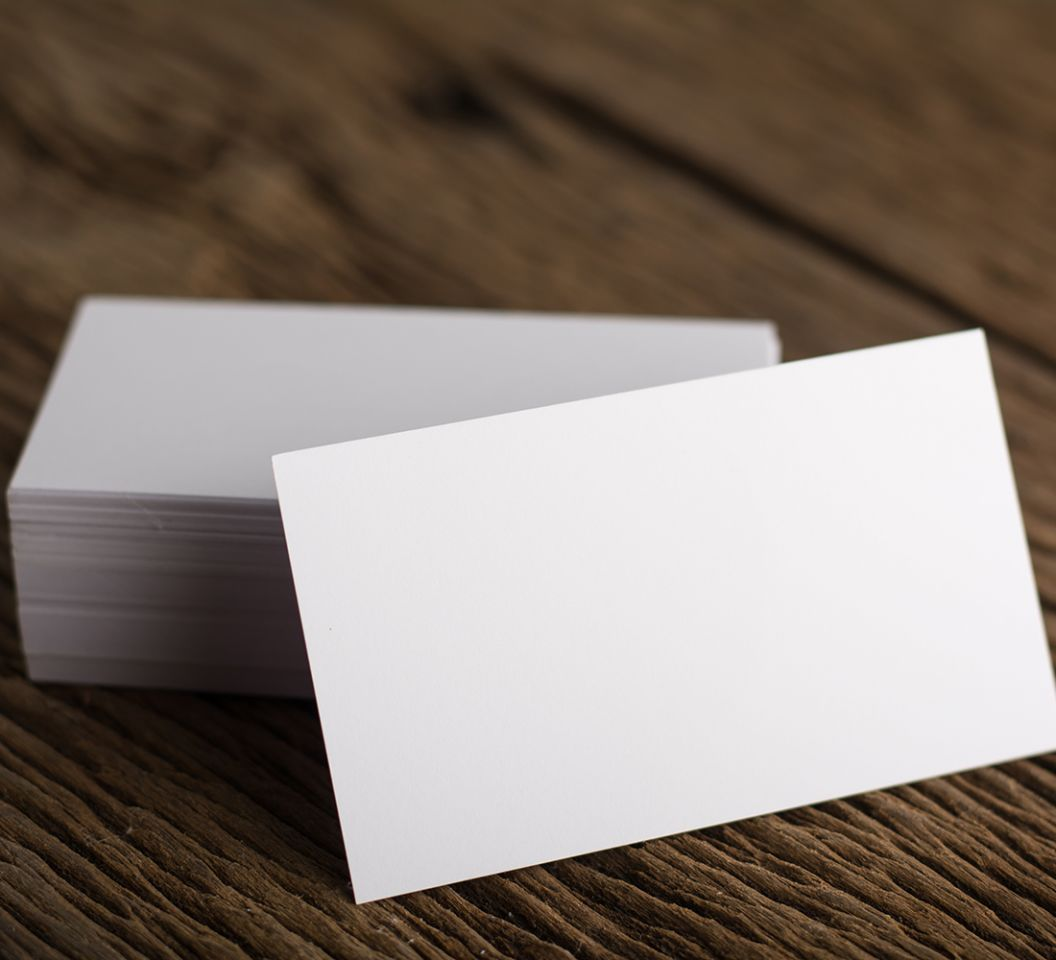 Blank white Business card presentation of Corporate identity on